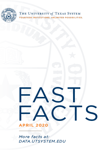Fast Facts cover with the UT System seal in the background and title